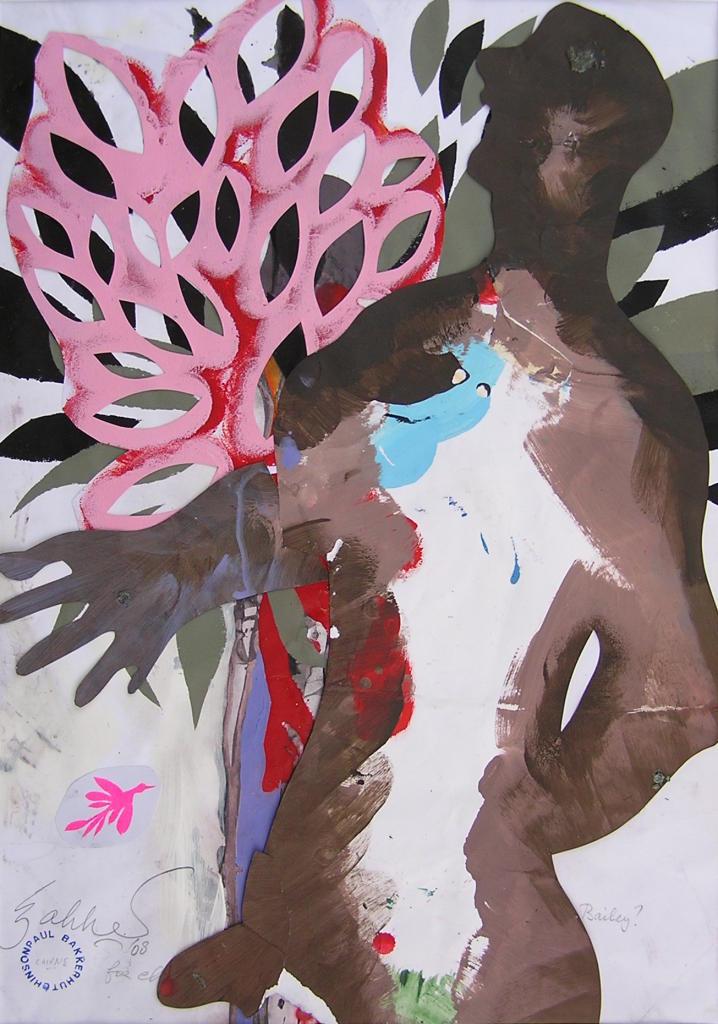 Dreamfella, acrylic on paper, 470x680